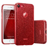 """iPhone 7 Case, ESR Glitter Sparkle Bling Case with Three Layer Structure [Slim Fit] for Apple 4.7"""" iPhone 7(Red)"""