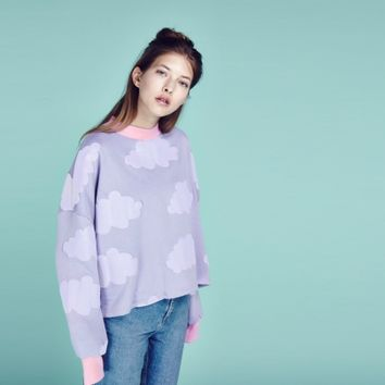 Lazy Oaf Fluffy Cloud Sweatshirt