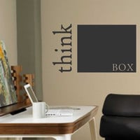 Think Outside the Box | Vinyl Wall Decal | Office Wall Quotes