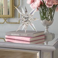 Contemporary Crystal Glass Star Sculpture