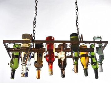 Vintage Retro Style Wine Bottle Pendant Kitchen Dining Chandelier Lighting