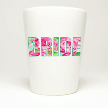 Bachelorette Party Rose Fill Bride Shot Glass