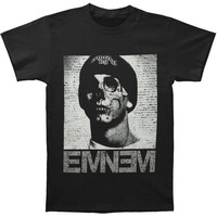Eminem Men's  Skull Face T-shirt Black