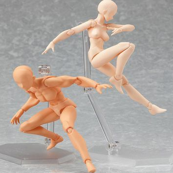 Anime Action Figure Toys Artist Movable Limbs Male Female 13cm joint body Model Mannequin Art Sketch Draw kawaii Action Figures