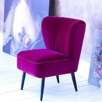 French fifties chair - magenta