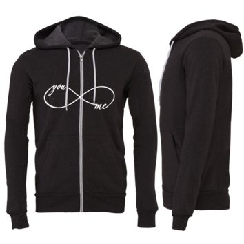 YOU AND ME ZIPPER HOODIE