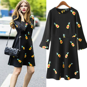 Women's Fashion Stylish Print Skirt One Piece Dress [6420304388]