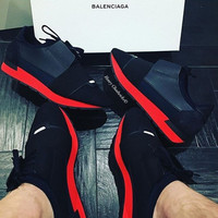 shosouvenir BALENCIAGA red fashion casual shoes