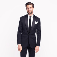 Ludlow shawl-collar tuxedo jacket with double vent in Italian wool - black-tie shop - Men - J.Crew
