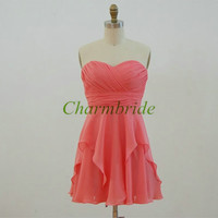 short chiffon bridesmaid dresses custom colors sweetheart bridesmaid gowns simple custom size prom dress homecoming dresses