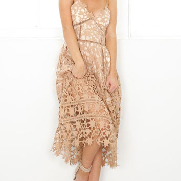 Romantic Hollow out Lace Dress