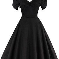Atomic 1960's Vintage Black Cocktail Dress