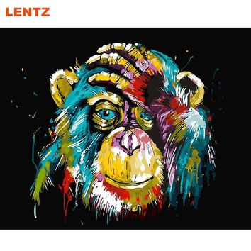 Gorilla Pop Art Painting Numbers picture By Number Digital Pictures Coloring by hand Unique Gift room decor Home Animal Art