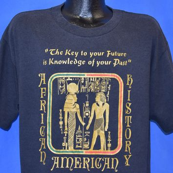 90s African American History Hieroglyph t-shirt Large