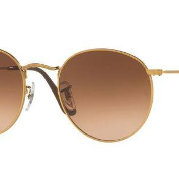 Kalete Ray-Ban RB3447 9001A5 53mm Shiny Light Bronze/Pink Gradient Brown Sunglasses