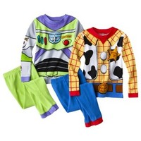 Disney® Toy Story Toddler Boys' Woody and Buzz Lightyear 4-piece Pajama Set