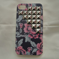 Blue Floral Iphone 4/4s case