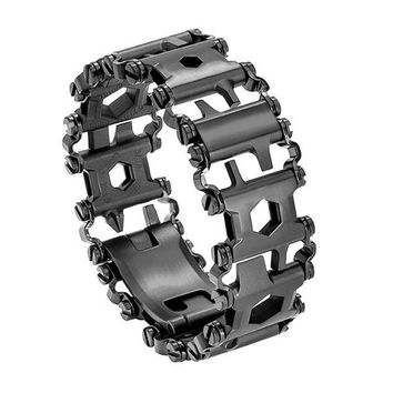 Hottime Tread Multifunction stainless steel Wear bracelet Strap tool Screwdriver can opener hex wrench Free combination 29 tools