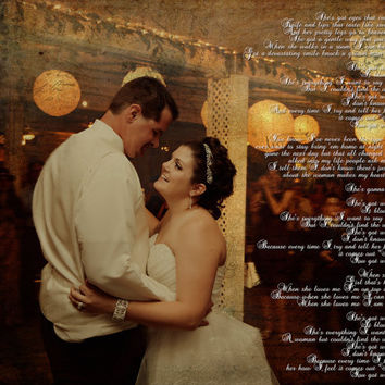Wedding Photo Song Lyrics Photo Art Custom Photo Editing