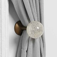 Plum & Bow Clear Glass Curtain Tie-Back- Clear One