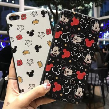 For iPhone 6 6s Multiple Cartoon Mickey mouse Soft TPU Cover case For iPhone X 7 6 S 7 plus 8 8 plus Couple phone case