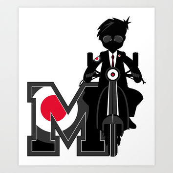 M is for Mod Illustration Art Print by markmurphycreative