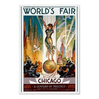 Chicago World's Fair 1933 & 1934 ~ Vintage Travel Poster from Zazzle.com