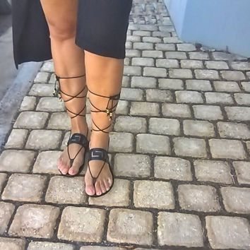 leather sandals,meander sandals,ancient Greek sandals,womens shoes,greek sandals,handmade sandals,gifts,sandals,womens sandals gladiator