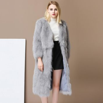 Gorgeous Long Fox Fur Coat. Winter Outwear, Warm & Soft from Russia with love.