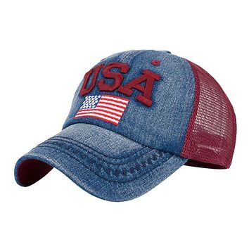 Women American Flag Baseball Cap Unisex girl Snapback Hip Hop Flat Hat Baseball caps women Adjustable Polyester Rhinestone hats