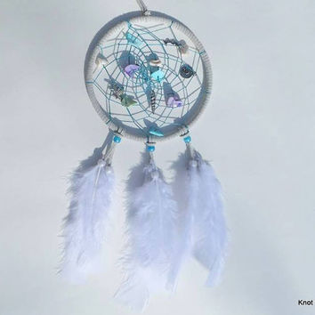 Beachy Seashell dream catcher with charms