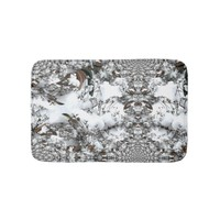 Snow Abstract Bath Mat