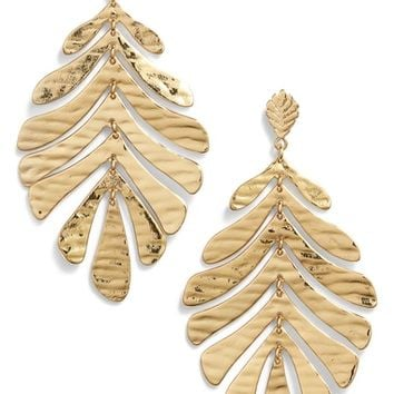 kate spade new york a new leaf statement earrings | Nordstrom