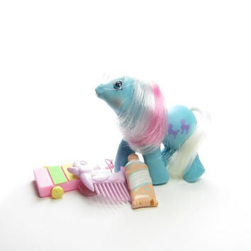 Baby Fifi First Tooth My Little Pony Vintage G1 Toy with Xylophone, Toothpaste, Duck Comb