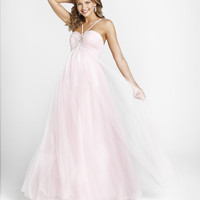 BLUSH 2012 Homecoming Dresses ** Crystal Pink Beaded Sparkle Tulle Halter Prom Gown - Sz. 0 to 10 - Unique Vintage - Prom dresses, retro dresses, retro swimsuits.