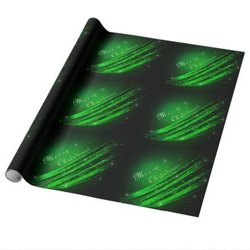 Green Merry Christmas Wrapping Paper