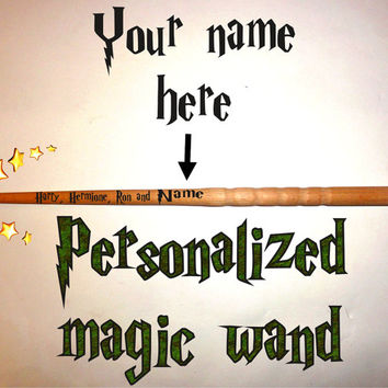 Harry, Hermione, Ron Magic wand, Fairy wand, Personalized wand , Wizard magic wands, Handmade custom magic wand, Harry Potter magic wand