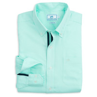 Seafaring Micro Gingham Sport Shirt in Offshore Green by Southern Tide
