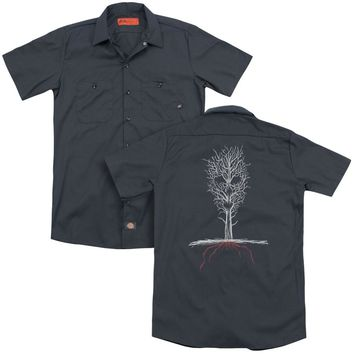 American Horror Story - Scary Tree (Back Print) Adult Work Shirt