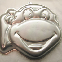 Vintage Teenage Mutant Ninja Turtle Wilton Cake Pan TMNT 1991 Gelatin Mold Head Baking Craft RARE