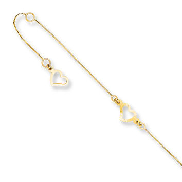 Heart Anklet 14K Yellow Gold