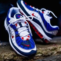 Nike Air Max OG 98 GunDam Stylish Trending Men Red/Blue/White Casual Sport Running shoe sneakersi