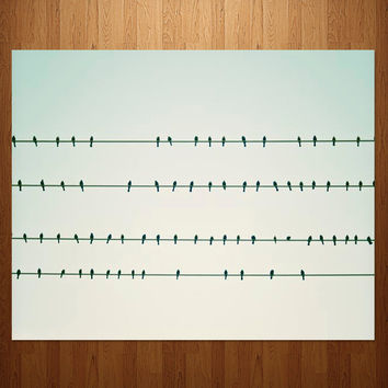 Birds On A Wire Photo Art