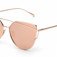Rose Pink Reflective Sunnies