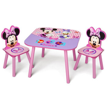 Delta Children Minnie Mouse Kid's 3 Piece Table and Chair Set