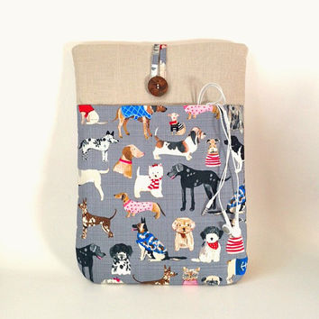 Dog MacBook Air 13 Case, Dog MacBook Pro Retina Sleeve, MacBook Pro Cover, 13 . 3 inch Laptop Pouch, Puppy Laptop Bag Cord Pocket Canine Sac