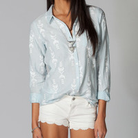 Volcom Calmate Womens Shirt Chambray  In Sizes