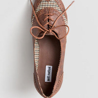 OXFORD STREET HOUNDSTOOTH OXFORD FLAT
