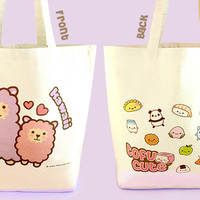 Buy Kawaii Tofu Cute Shopping Bag - Kawaii Alpaca at Tofu Cute