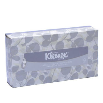 Kimberly-Clark Kleenex Facial Tissue in Pop-Up Box, White, 125 Tissues per Box  (21606)